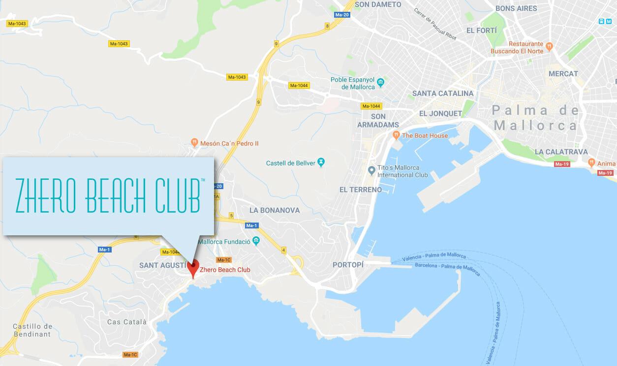Zhero Beach Club Palma • Kontakt und Information